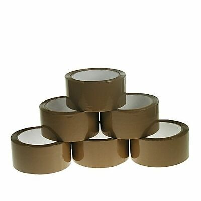 6 Big Rolls Brown Buff Strong Packing Tape 48MM x 66M Packaging Parcel Sellotape