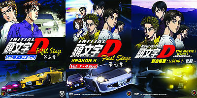 Initial D 5th & Final Stage + Movie 1 Japanese Anime DVD 3 Box Set + Eng Sub
