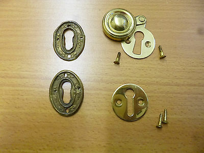 Brass Escutcheon; Brass Keyhole Cover; Pressed Brass Keyhole Covers