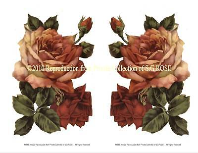 BIG Vintage ROSES Fine Art Prints DECOUPAGE, CRAFTS, Your choice of paper