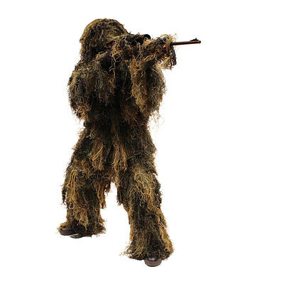 Red Rock Outdoor Adult 5 Piece Ghillie Suit Woodland Camo MED/LRG 70915M/L