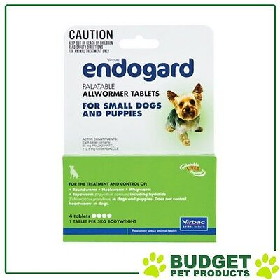 Endogard All Wormer For Dogs And Cats Small 4 Tabs