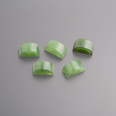 Jade Cabochon Ring stone Special 11 x 5 mm green / BOX (3718)