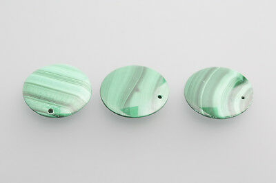 Malachite Cabochon Lenti 18mm traforate verde / SCATOLA