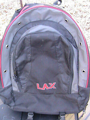 LAX Lacrosse Equipment Bag Backpack Black with Red