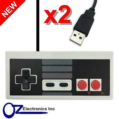 2 x NES USB Controller for PC Brand New Free Shipping from Melbourne Australia
