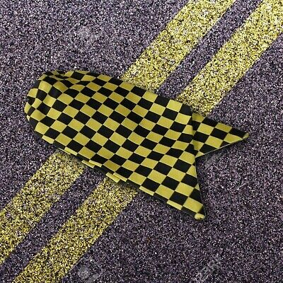 Ladies Traffic Warden Clip On Cravat Black and Yellow Check