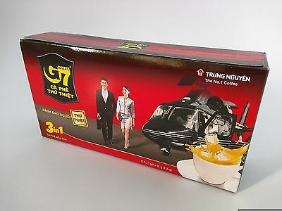 1 x Box of Trung Nguyen Original G7 3 in 1 Vietnam Instant Coffee 21 x 16g New