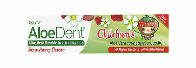 Aloe Dent Fluoride-free Childrens Toothpaste 50ml Strawberry Flavour from Optima