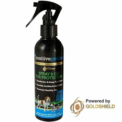 Dry Dog Cat Shampoo Fur Protector & Conditioner Spray & Go By Positive Petcare