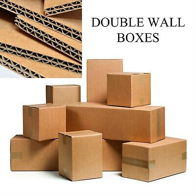 Double Wall Cardboard Boxes Postal Packing Mailing Packaging Shipping Moving Box