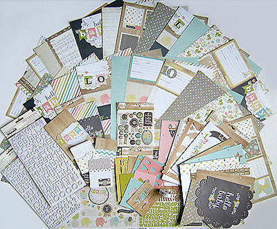 New! SIMPLE STORIES  [Hello Baby] 12x12 Paper & Embellishments  $64. msrp