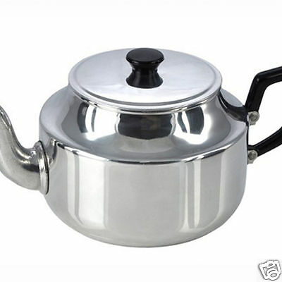 Pendeford Traditional Vintage Retro Polished Aluminium Teapot 6 or 9 Cup