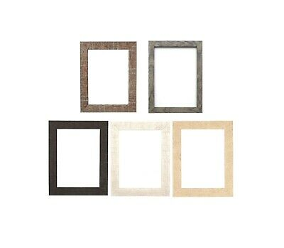 Shabby Chic Rustic Wood Grain Picture Frame Photo Frame Wall Decor Grey A4 A3