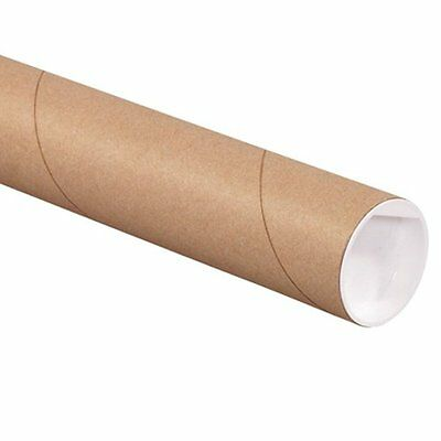 "Aviditi P2520K Fibreboard 3-Ply Spiral Wound Mailing Tube with Cap, 20"" Length x"