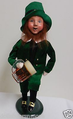 "NEW! 2016 Byers Choice ""LEPRECHAUN W/ PINT BEER"" #2313A  Handsome! Must See! F/S"