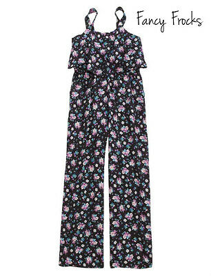 JUSTICE Girls Flounce Floral Jumpsuit Romper, NEW, 10 12 14 18