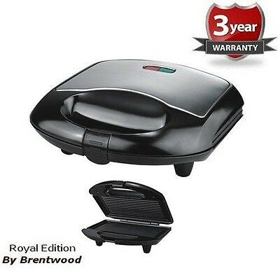 Stainless Steel Panini Press Sandwich Maker Smart Electric Non Stick Coating