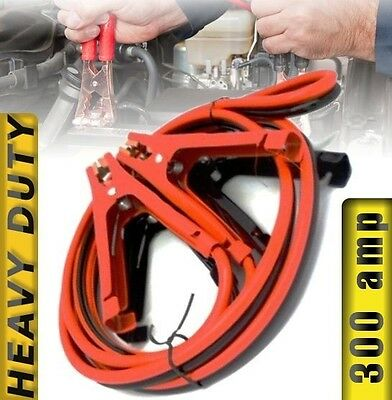SUPER DUTY Jumper Cables Battery Booster 300 AMP Jump Start Cable Car Truck 10'