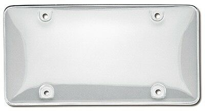 Sporty Clear Bubble License Plate Shield Cover Protector Security