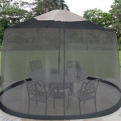 Outdoor Umbrella Table Screen Netting 7.5' ft Mosquito Patio Cover