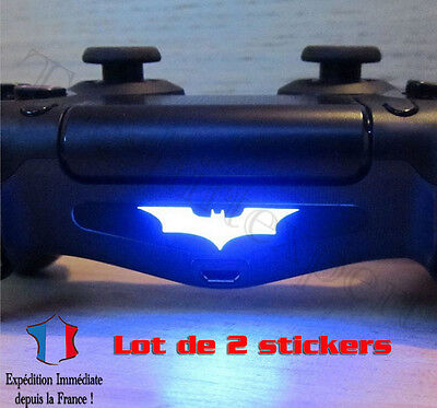 2 Stickers Ps4 Autocollant Batman Manette Barre Lumineuse Playstation 4
