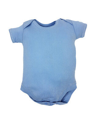 6 pack blue baby vests, baby grow, body suit, romper short sleeve free P&P