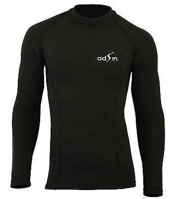 Mens Compression Armour Base Layer Top Long Sleeve Thermal Gym Sports Shirt