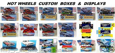 Various Custom Display for HOT WHEELS Regular Size 1:64 Die-Cast Model Toy Cars