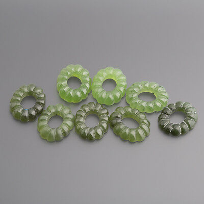 Jade green Cabochon Oval Strap fluted 14 x 11 mm emerald green / BOX