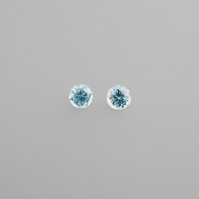 real Zirconia blue Old consisted 5,0mm Round / BOX 4 (18)