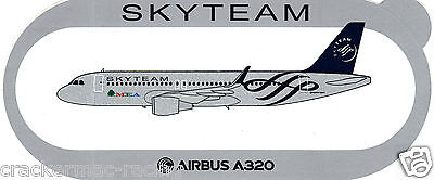 Airbus A320 - Sharklets Middle Eastern A/l Skyteam Airline Sticker