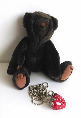 Strawberry Teddy Bears - Gordon Bear - jointed, comes with a Strawberry necklace
