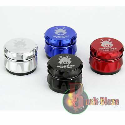 Head Chef Samurai Aluminium Grinder | 55mm 4 Part | Metal Magnetic | Crusher