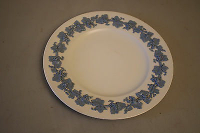 "Wedgwood Queen's Ware Embossed Lavender Blue on Cream 10 3/4"" Dinner Plate"