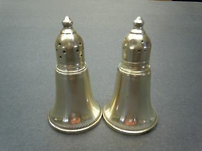 Vintage  Sterling Silver Weighted Pair of Salt Pepper Shaker