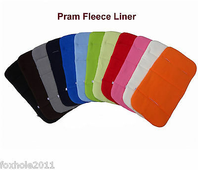 Baby Pram Pushchair Stroller Buggy Fleece Liner Pad Matress Cover