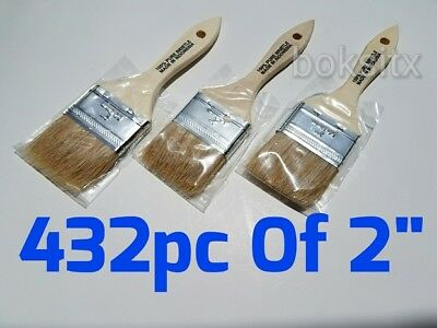 "432 Pc of 2"" Chip Brush Natural Bristle Adhesives Paint Touchups 2 Inch"