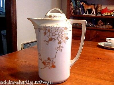 Antique Morimura Bros. Nippon Porcelain Gold Decorated Chocolate Pot