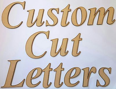 CUSTOM CUT MDF WOODEN LETTERS 4cm TALL 3mm THICK WOOD FONTS NAMES WORDS CUTOUT