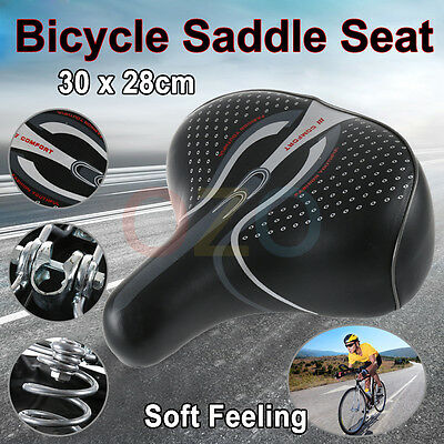 Unisex Wide Big Bum Sprung Bike Bicycle Gel Cushioned Comfort Soft Saddle Seat