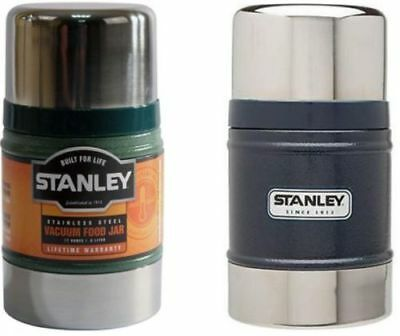 Stanley 0.5L Classic Vacuum Food Jar Flask Stainless Steel Hot Cold Thermos New