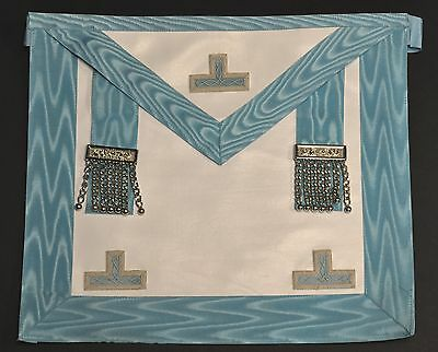 Craft Worshipful Masters Apron with Embroidered Levels - Leather (CR010EL)