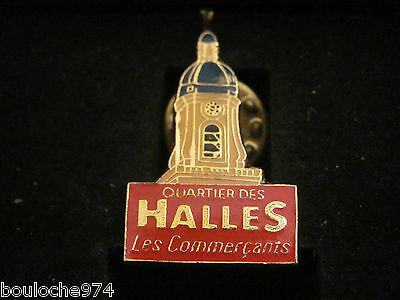 "Pin's /pins / Badge Ville De France "" Paris  Le Quartier Des Halles  """