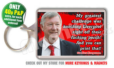 Alex Ferguson - Manchester United Football Quote Double Sided Keyring
