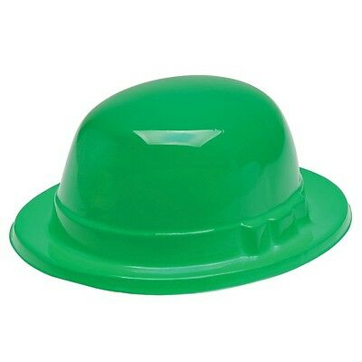 St Patrick's Day Green Bowler Derby Hats 12 Pc (USSP13)