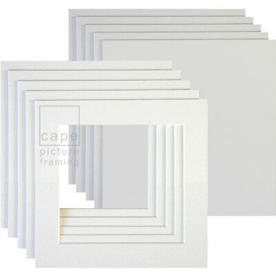 Square Picture Photo Mounts+Backs, Pack of 5,Conservation White Core, Instagram