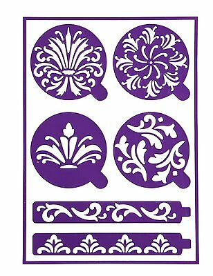 Wilton Stick N Stay Scroll Design Adhesive Backing Cake Decorating Stencils