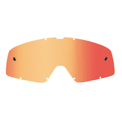 Fox Racing NEW Mx Main Motocross Goggle Mirror Tinted Red Spark Replacement Lens