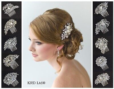 Diamond BRIDAL HAIR COMB Wedding Prom Night Party Girls Ladies Fancy Dress Clip